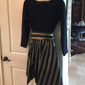 Cocktail Dress Andrea Jovine - size P. Black/gold