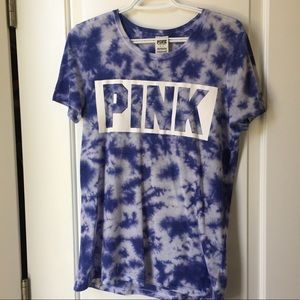 VS PINK Purple Blue Tie Dye Tee