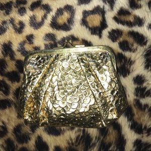 Gold vintage coin purse