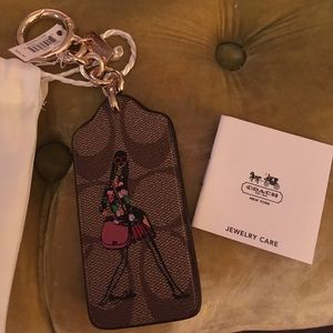 Coach leather Bonny Cassin Key Ring leather NWT