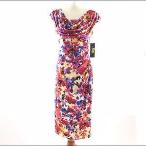 Lauren Ralph Lauren Dress 6 Floral Sheath Fitted