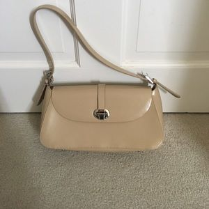 Cnkw clutch leather tan purse bag 90s vintage