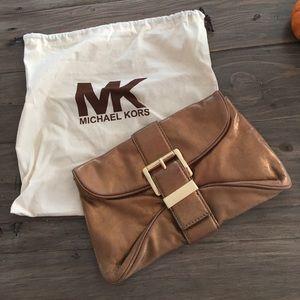 Michael Kors Gold Clutch Bag