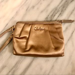 Brand New Cole Haan Champagne/Gold Wristlet NWB