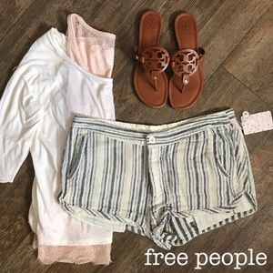 Free People Night Moves Striped Shorts 10