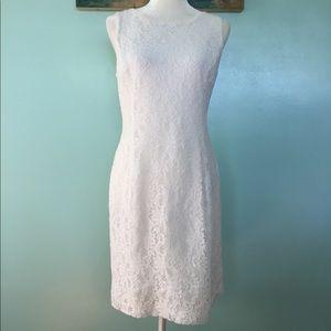 Lauren Ralph Lauren Sleeveless Lace Dress - 10
