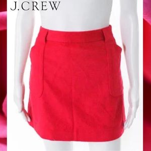 J CREW Versatile Dark Pink Wool Pockets Skirt