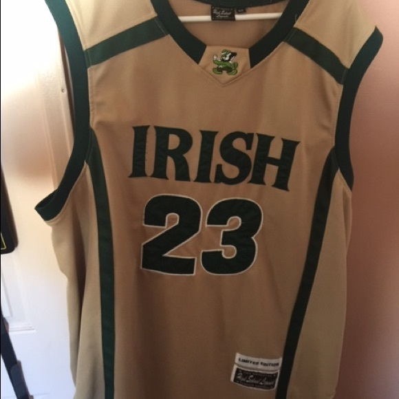 official photos 7ff29 56990 Used Lebron James Irish High School Legends Jersey