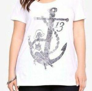 White anchor t-shirt