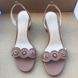 Bnwot Tory Burch sling back heel sandals slides