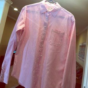 American Eagle Women's Button Down Shirt XS PINK