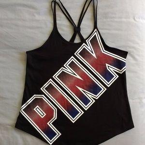 NWT Victoria's Secret Pink logo strappy tank