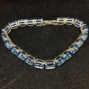 Monet Aquamarine Tennis Bracelet