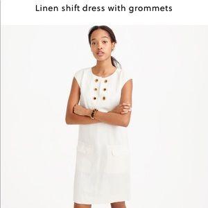 J.Crew Linen Shift Dress with Grommets