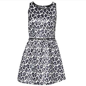 TOPSHOP purple leopard print dress size 2