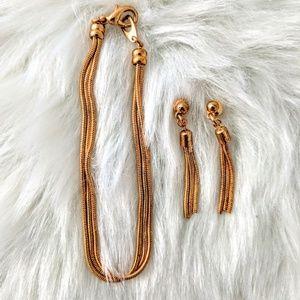 Chain Bracelet & Earrings