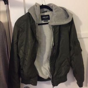Obey navy green bomber jacket men's M