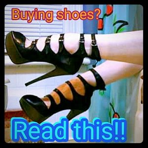 Shoes - Read this if buying shoes!