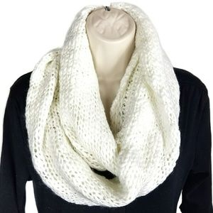 🔥1 DAY SALE BCBGeneration White Infinity Scarf