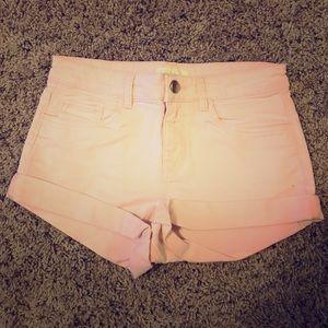 H&M Light Pink Denim Jean Shorts