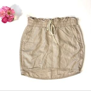 Leifnotes by anthro beige drawstring skirt pockets