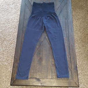 Pants - Navy Blue Maternity Leggings