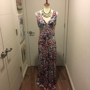 Cynthia Rowley flowered surplice neck maxidress
