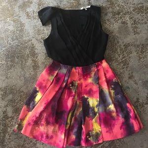 Rachel Roy vibrant watercolor dress