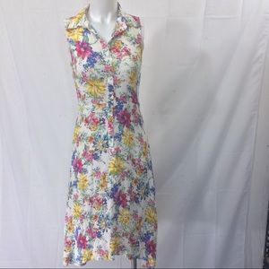 Lucca Couture dress floral button down size 8