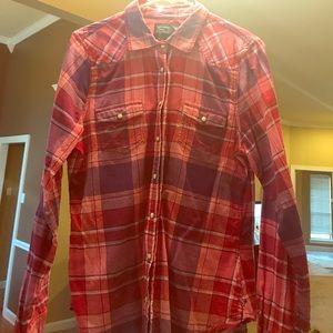 American Eagle Women's Shirt Plaid flannel large