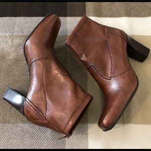 Beautiful Franco Sarto Ankle Booties, Brown