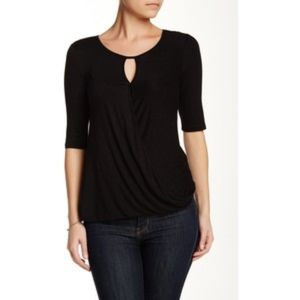 NWT CABLE & GAUGE BLACK CROSSOVER FRONT TOP SIZE S