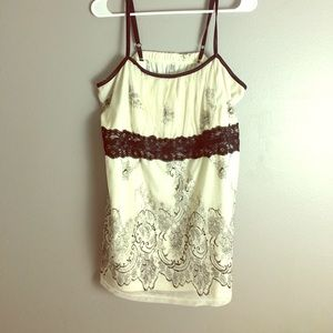 White and black Beautiful lace overlay adjustable