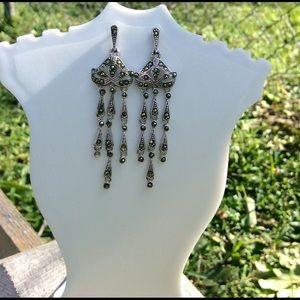 Jewelry - Marcasite 925 sterling silver earrings