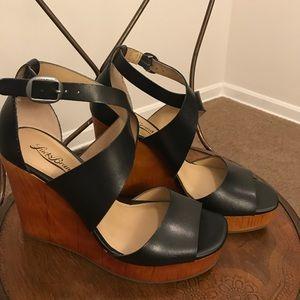 NWOT Lucky 🍀 Brand Wooden Wedge Heels