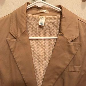 Old Navy khaki cotton blazer