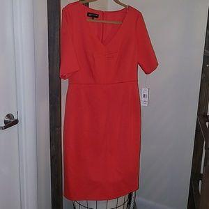 Coral 3/4 sleeve dress