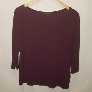 EILEEN FISHER PURLPLE SILK TOP SZ M