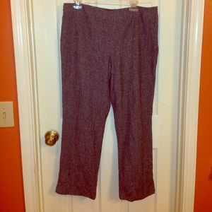 Brown Tweed Dana Buchman Pants 14