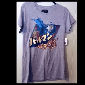 Batman Gray T-shirt Katakana NWT Youth