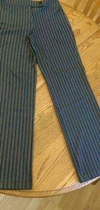 Women's pin strips dress work pants medium tall