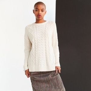 Urban Outfitters BDG High Low Cable Knit Sweater