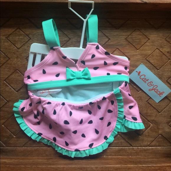 68e3cd8c8cf36 cat & jack Swim | Baby Girls Cat Jack 12m Watermelon Bathing Suit ...