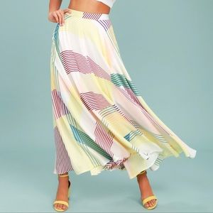Dresses & Skirts - Lulu's Striped Maxi Skirt