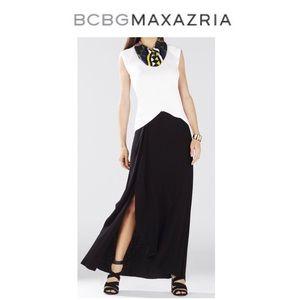 Ruffle Maxi Skirt w/ Side Slit