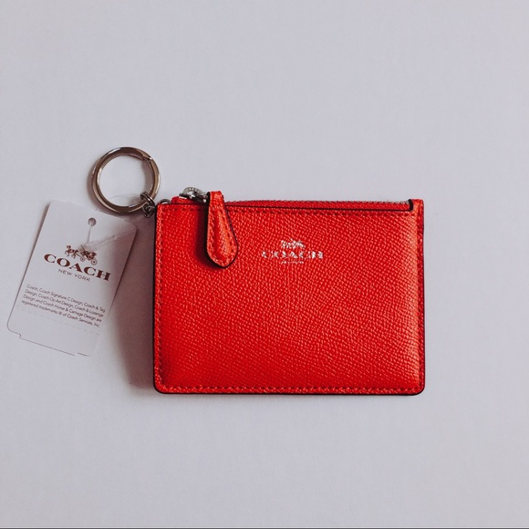 f7f90c87cc0e Coach orange coin case card holder