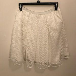 MAEVE White Lace Skirt