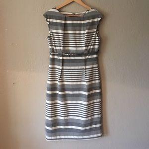 Calvin Klein gray stripe lined dress NWOT