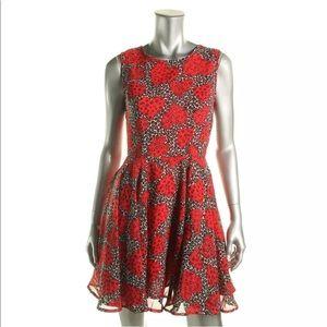 Maison Jules Red Sleeveless Printed Mini L
