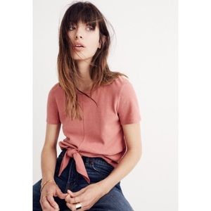 Madewell modern tie-front top